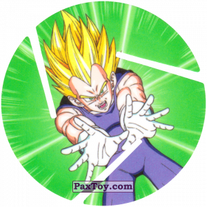 PaxToy.com - 017 Super Saiyan Vegeta - Preparing to attack из Cheetos: Dragon Ball Z XFERAS Tazos