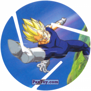PaxToy.com - 018 Super Saiyan Vegeta - Kick из Cheetos: Dragon Ball Z XFERAS Tazos