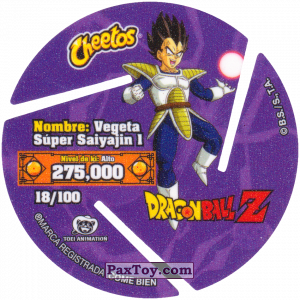 PaxToy.com - 018 Super Saiyan Vegeta - Kick (Сторна-back) из Cheetos: Dragon Ball Z XFERAS Tazos
