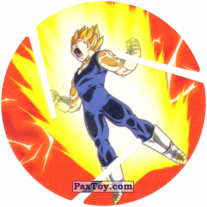 PaxToy.com - 019 Super Saiyan Vegeta из Sabritas: Dragon Ball Z XFERAS Tazos