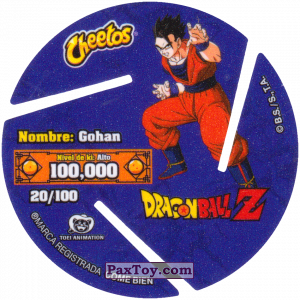 PaxToy.com - 020 Gohan - Blast (Сторна-back) из Cheetos: Dragon Ball Z XFERAS Tazos