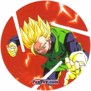 PaxToy.com - 021 Super Saiyan Gohan - Attack из Sabritas: Dragon Ball Z XFERAS Tazos
