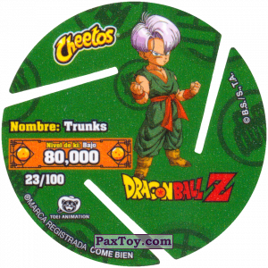 PaxToy.com - 023 Trunks Brief (Сторна-back) из Sabritas: Dragon Ball Z XFERAS Tazos