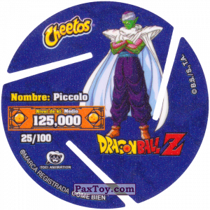 PaxToy.com - 025 Piccolo (Сторна-back) из Cheetos: Dragon Ball Z XFERAS Tazos