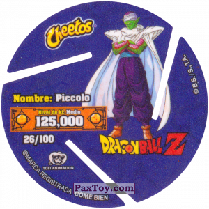 PaxToy.com - 026 Piccolo (Сторна-back) из Cheetos: Dragon Ball Z XFERAS Tazos