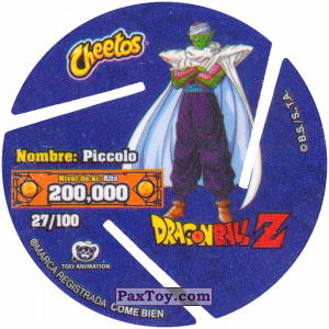 PaxToy.com - 027 Piccolo (Сторна-back) из Cheetos: Dragon Ball Z XFERAS Tazos