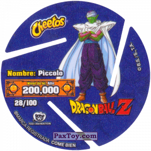 PaxToy.com - 028 Piccolo (Сторна-back) из Cheetos: Dragon Ball Z XFERAS Tazos