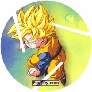 PaxToy.com  Фишка / POG / CAP / Tazo 054 Goten - Super Saiyajin из Cheetos: Dragon Ball Z XFERAS Tazos