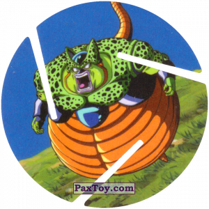 PaxToy.com  Фишка / POG / CAP / Tazo 056 Cell из Cheetos: Dragon Ball Z XFERAS Tazos
