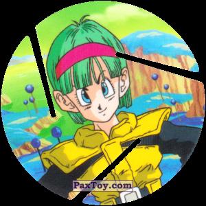 PaxToy.com  Фишка / POG / CAP / Tazo 074 Bulma из Cheetos: Dragon Ball Z XFERAS Tazos