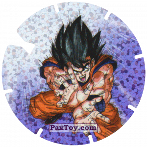 PaxToy.com  Фишка / POG / CAP / Tazo 08/30 Goku - Sayayin из Gamesa: Dragon Ball Z - Vuela Tazos Prismatic