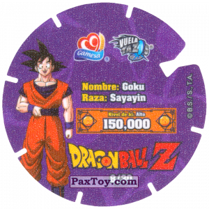 PaxToy.com - Фишка / POG / CAP / Tazo 08/30 Goku - Sayayin (Сторна-back) из Gamesa: Dragon Ball Z - Vuela Tazos Prismatic