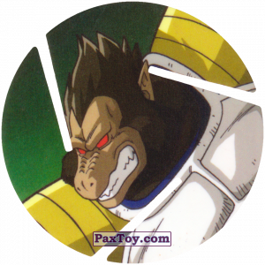 PaxToy.com  Фишка / POG / CAP / Tazo 081 Vegeta Mono из Cheetos: Dragon Ball Z XFERAS Tazos