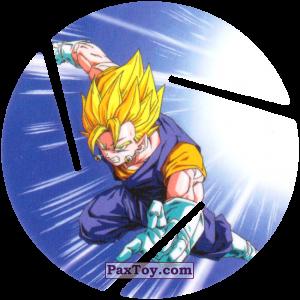 PaxToy.com  Фишка / POG / CAP / Tazo 088 Vegito - Super Saiyajin Attack из Cheetos: Dragon Ball Z XFERAS Tazos