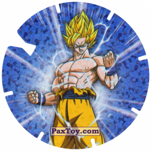 PaxToy.com  Фишка / POG / CAP / Tazo 09/30 Goku - Sayayin из Gamesa: Dragon Ball Z - Vuela Tazos Prismatic