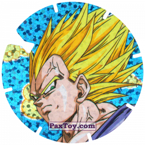 PaxToy.com  Фишка / POG / CAP / Tazo 14/30 Vegeta - Sayayin из Gamesa: Dragon Ball Z - Vuela Tazos Prismatic