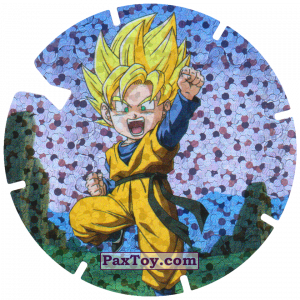 PaxToy.com  Фишка / POG / CAP / Tazo 28/30 Goten - Sayayin из Gamesa: Dragon Ball Z - Vuela Tazos Prismatic