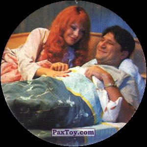 PaxToy.com  Фишка / POG / CAP / Tazo 35 Гена и Даша в кровати из Счастливы вместе Фишки