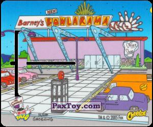 PaxToy.com  Вкладыш, Игровая еденица Катапульта Bowlarama Барни из Cheetos: Симпсоны Термоядерный Боулинг