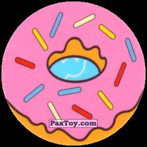 PaxToy.com - Вкладыш, Игровая еденица Катапульта Kwik-E-Mart (Сторна-back) из Cheetos: Симпсоны Термоядерный Боулинг