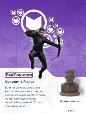 PaxToy.com - 09 Соколиный глаз (Штамп + Ластик) (Сторна-back) из Пятерочка: Стиратели 2
