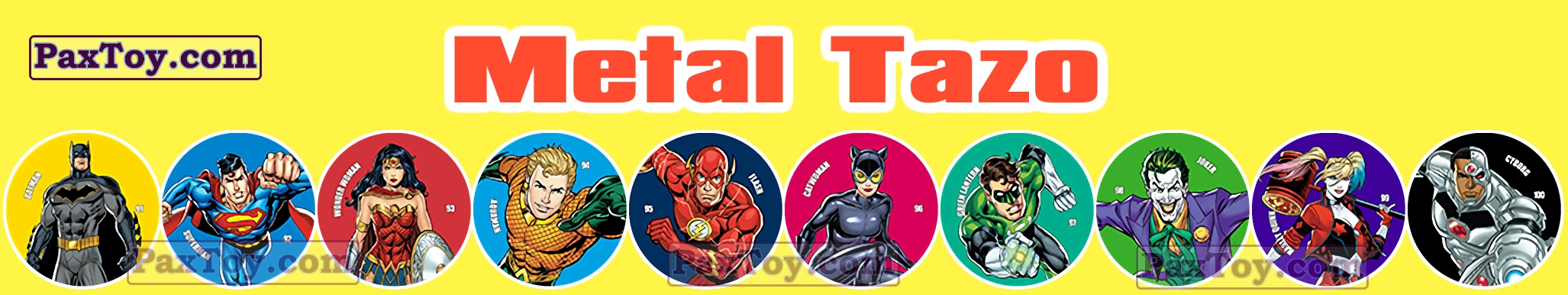 PaxToy Chipicao 2019 Justice League metal TAZO