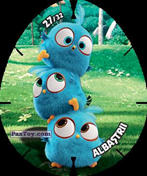 PaxToy.com  Карточка / Card, Фишка / POG / CAP / Tazo 27/32 ALBASTRII из Carrefour: Angry Birds 2