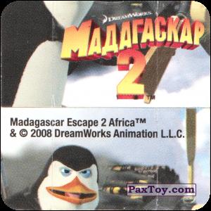 PaxToy.com - Игрушка, Карточка / Card 07 Фиддлер - Пингвины пилоты (Сторна-back) из Cheetos: Фиддлеры Madagascar 2