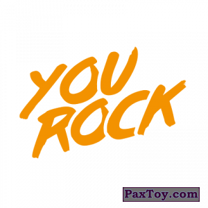 PaxToy.com - 09 You Rock (Сторна-back) из Cheetos: Неоновые стикеры