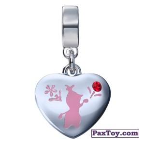 PaxToy.com - 03 Шарм-сердечко с изображением снеговика Олафа! из Корона: «Холодное сердце» Коллекция шармов от всего сердца
