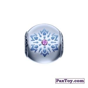 PaxToy.com - 09 Шарм со снежинкой и фиолетовым кристаллом! из Корона: «Холодное сердце» Коллекция шармов от всего сердца