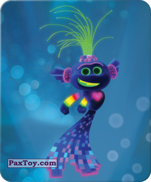 PaxToy.com  Карточка / Card 15 Король Ти-роллекс из Пятерочка: Тролли. Большие Гастроли (Карточки)