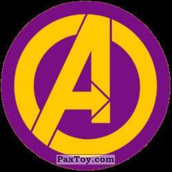 PaxToy 01 Раунд Начивка   Символ команды Мстители MARVEL