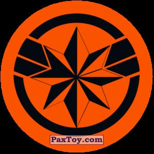 PaxToy.com  Наклейка / Стикер 02 Раунд Начивка - Символ героини Капитан Марвел из Пятёрочка: Начивки