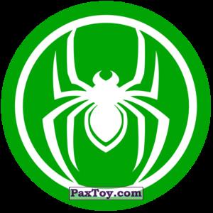 PaxToy.com  Наклейка / Стикер 03 Раунд Начивка - Символ Человека-Паука из Пятёрочка: Начивки