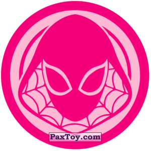 PaxToy.com  Наклейка / Стикер 04 Раунд Начивка - Спайдер-Гвен из Пятёрочка: Начивки