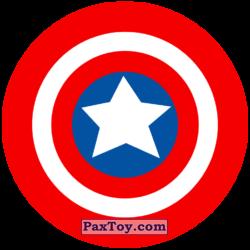 PaxToy 05 Раунд Начивка   Щит Капитана Америка