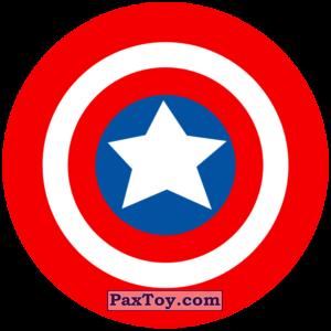 PaxToy.com - 05 Раунд Начивка - Щит Капитана Америка из Пятёрочка: Начивки