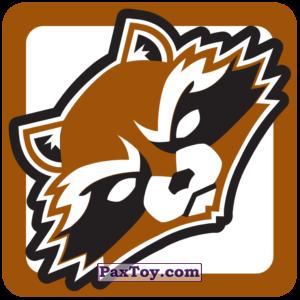 PaxToy.com  Наклейка / Стикер 10 Фейс Начивка - Енот Ракета из Пятёрочка: Начивки