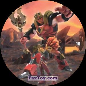 PaxToy.com  Карточка / Card, Фишка / POG / CAP / Tazo 10 Keryon and RIFF из Chipicao: GORMITI