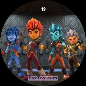 PaxToy.com  Карточка / Card, Фишка / POG / CAP / Tazo 19 Friends из Chipicao: GORMITI