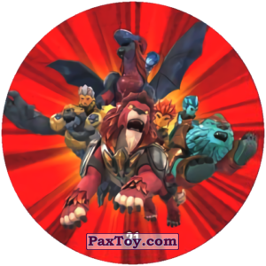 PaxToy.com  Карточка / Card, Фишка / POG / CAP / Tazo 21 Frands and Animals из Chipicao: GORMITI
