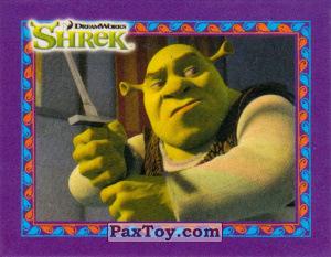 PaxToy.com  Карточка / Card, Наклейка / Стикер 04 Шрек с Мечем из Cheetos: Shrek the Third Stickers