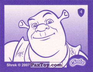 PaxToy.com - Карточка / Card, Наклейка / Стикер 04 Шрек с Мечем (Сторна-back) из Cheetos: Shrek the Third Stickers