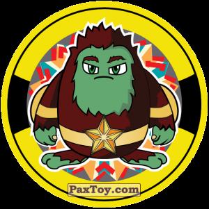PaxToy.com  Фишка / POG / CAP / Tazo 10 Yellow - Bombastick из Snekkin: Фишки Poke Go
