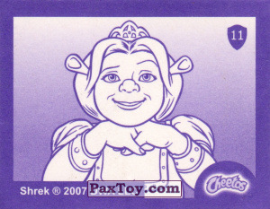 PaxToy.com - Карточка / Card, Наклейка / Стикер 11 Фиона и Мама (Сторна-back) из Cheetos: Shrek the Third Stickers