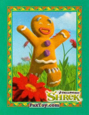 PaxToy.com  Карточка / Card, Наклейка / Стикер 13 Пряничный человечек из Cheetos: Shrek the Third Stickers