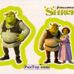 PaxToy 21a Раздельный стикер   Шрек и Фиона