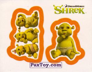 PaxToy.com  Карточка / Card, Наклейка / Стикер 27 Раздельный стикер - Детки огры из Cheetos: Shrek the Third Stickers