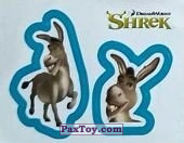 PaxToy.com  Карточка / Card, Наклейка / Стикер 33 Раздельный стикер - Осёл из Cheetos: Shrek the Third Stickers